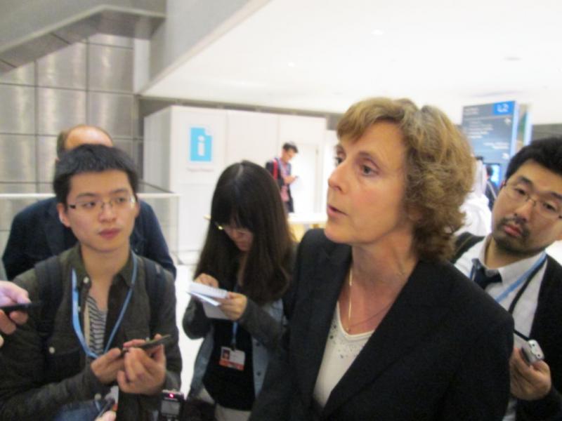 Еврокомиссар по климату Кони Хедегард дает комментарии по позиции ЕС