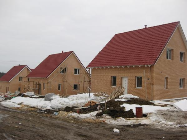The village with passive (energy efficient) houses
