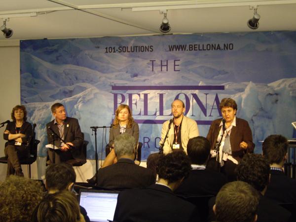 "Participants of the side-event ""Russian Climate Policy"", organized 8 December by Bellona. Speakers: Elena Kobets, Alexey Kojorin, Nina Lesihina, Vladimir Slivyak, Olga Senova"