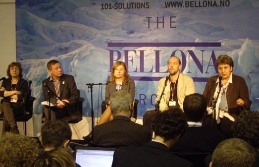 Участники мероприятия: «Российская климатическая политика»,  организованного 8 декабря Беллоной 08 декабря 2009 г. Выступают: Е. Кобец, А. Кокорин, Н. Лесихина, В. Сливяк, О. Сенова